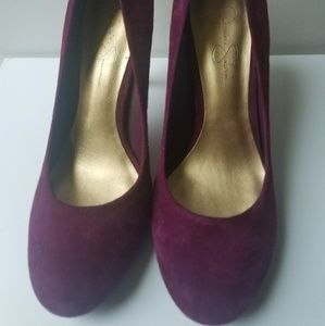 Jessica Simpson/Purple Suede Pumps